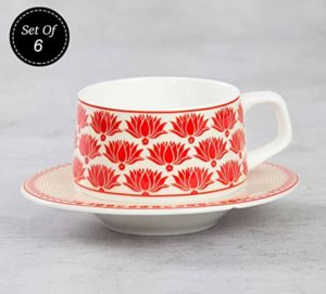 India Circus Ceramic Multicolor Cup and Saucer Rs 1106 amazon dealnloot
