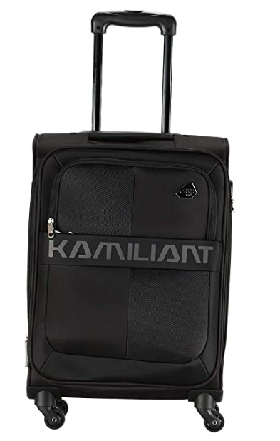 Kamiliant by American Tourister Kam Oromo Polyester 58 cms Black Softsided Cabin Luggage