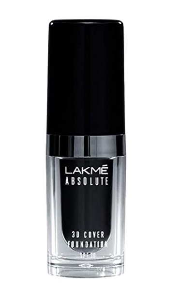 Lakme Absolute 3D Cover Foundation, Cool Walnut, 15 ml