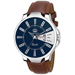 LimeStone Day and Date Functioning Leather Strap Rs 99 amazon dealnloot