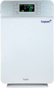 Livpure TruAir Portable Room Air Purifier White Rs 2999 flipkart dealnloot