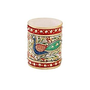 Marble Pen Stand with Peacock Painting by Rs 218 amazon dealnloot