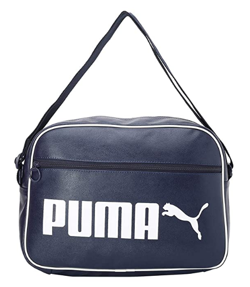 PUMA Synthetic 37 cms Peacoat Messenger Bag