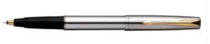 Parker Frontier Valentine's-Day Special Stainless Steel-Gold Trim, Roller Ball Pen