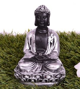 Pindia Meditating Polyresin Buddha Silver Sparkled Statue Rs 111 amazon dealnloot