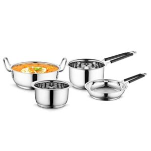 Profusion Stainless Steel Induction Base Cookware 4 Rs 920 amazon dealnloot