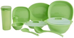 Signoraware Square Dinner Set 38 Pieces Parrot Rs 1334 amazon dealnloot