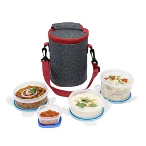 SimpArte Lock Seal Lunch Box with Insulated Rs 259 amazon dealnloot