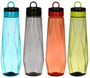 Steelo Siena Water Bottle, 1000ml, Set of 4, Color May Vary at Rs.206