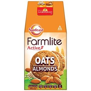 Sunfeast Farmlite Digestive Oats with Almonds Biscuits Rs 35 amazon dealnloot