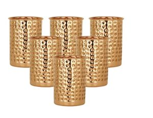 Taluka Handmade Hammered Copper Glass Cup Volume Rs 578 amazon dealnloot