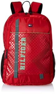 Tommy Hilfiger Red Laptop Backpack TH AMBA04 Rs 792 amazon dealnloot