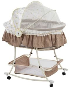 Toyzone Rocking Crib with Wheels and Mosquito Rs 1649 amazon dealnloot