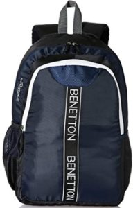 United Colors of Benetton 20 Ltrs Black Laptop Backpack