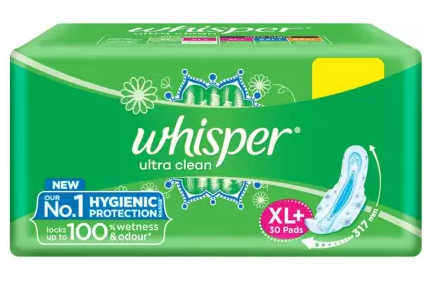 Whisper Ultra Clean XL Plus Sanitary Pad  (Pack of 30)
