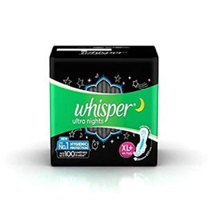 Whisper Ultra Overnight 44 Pieces XL Plus Rs 335 amazon dealnloot