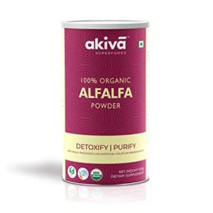 Akiva Superfoods Certified Organic Alfalfa Seeds Powder Rs 100 amazon dealnloot