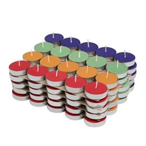 Amazon Brand Solimo Colored Wax Tealight Candles Rs 249 amazon dealnloot