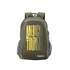 American Tourister 32 Ltrs Olive Casual Backpack Rs 699 amazon dealnloot