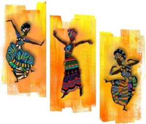 Art Amori African dance culture 3 piece Rs 168 flipkart dealnloot