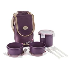 Cello Enjoy Plastic Lunch Box with 3 Rs 288 amazon dealnloot