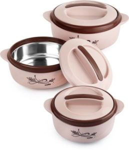 Cello Sapphire Pack of 3 Thermoware Casserole Rs 411 flipkart dealnloot