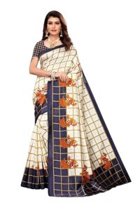 Clothzy Women s Art Silk Saree With Rs 275 amazon dealnloot