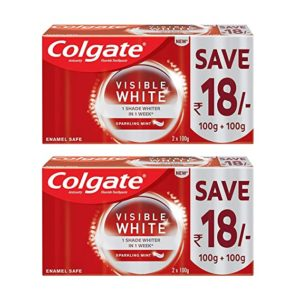 Colgate Visible White Teeth Whitening Toothpaste 400g Rs 251 amazon dealnloot