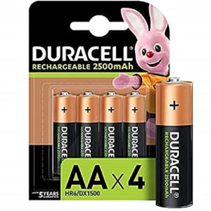 Duracell Rechargeable AA 2500mAh Batteries Pack of Rs 799 amazon dealnloot