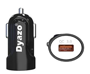 Dyazo Fast Car Charger Supports Qualcomm Quick Rs 150 amazon dealnloot