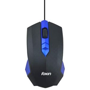 Foxin Smart Blue Wired Optical Mouse Blue Rs 129 amazon dealnloot