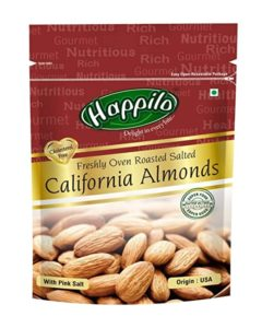 Happilo Premium Californian Roasted and Salted Almonds Rs 156 amazon dealnloot