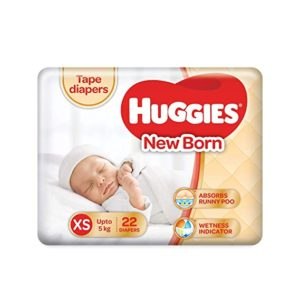 Huggies Taped Diapers New Born XS Size Rs 148 amazon dealnloot