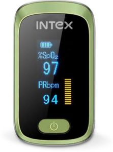 Intex Oxisafe Pulse Oximeter Green White Rs 799 flipkart dealnloot