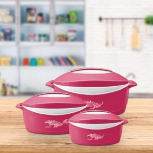 Milton Delight Pack of 3 Thermoware Casserole Rs 471 flipkart dealnloot