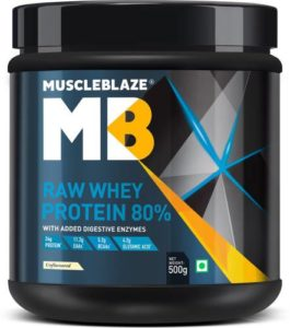 MuscleBlaze Raw Whey Protein 500 g Unflavored Rs 499 flipkart dealnloot