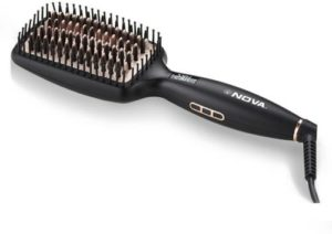 Nova NHS 904 Heated Straightening Smoothing Brush Rs 1398 flipkart dealnloot