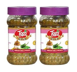 Tops Gold GreenChilli Pickle 375gm Jar Pack Rs 220 amazon dealnloot