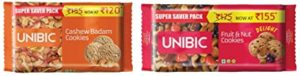 Unibic Cashew and Fruit n Nut Cookies Rs 165 amazon dealnloot