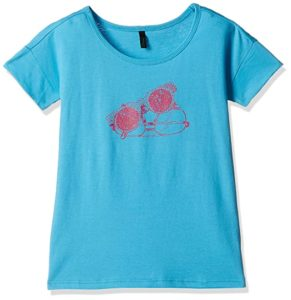United Colors of Benetton Girls T Shirt Rs 124 amazon dealnloot
