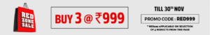 Buy any 3 clothes at Rs 999