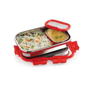 Cello Click It Stainless Steel Lunch Pack Rs 479 amazon dealnloot