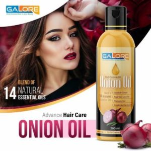 Galore Onion Hair Oil is a non sticky, non greasy and fast absorb hair oil with Onion blended with Almond, Castor, Jojoba, Olive, Argan oil,Onion Oil,Neem oil,Bhringraj Oil,TeaCoconut Oils. Regular use helps bring silkiness and strength to tresses, and improves the way hair looks, feels and behaves.