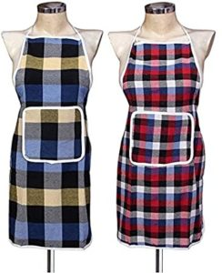 GLUN Waterproof Cotton Kitchen Apron with Front Rs 129 amazon dealnloot