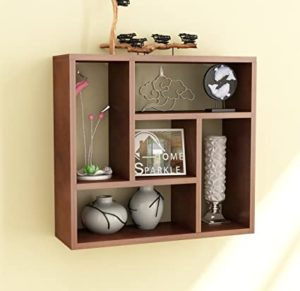 Home Sparkle Square Wall Shelf Five Section Rs 539 amazon dealnloot