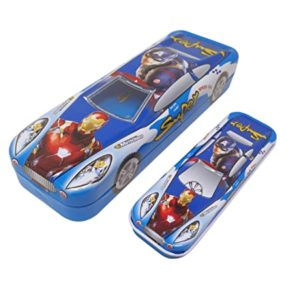 Parteet Multicolour Cartoon Printed Car Shape Matal Rs 189 amazon dealnloot