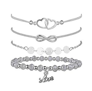 Shining Diva Fashion Set of 4 Heart Rs 99 amazon dealnloot