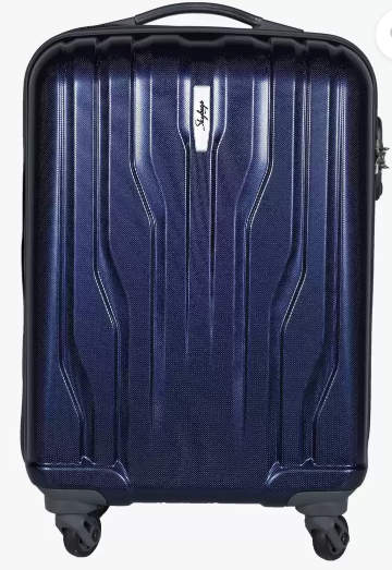 Skybags Small Cabin Luggage (55 cm) - Marshal 55 cm Hard Trolley (Blue)
