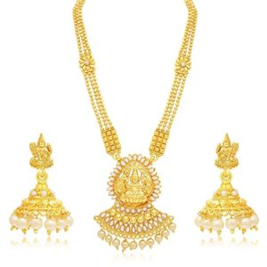Sukkhi Jewellery Sets for Women Golden 3190NGLDPP1400 Rs 309 amazon dealnloot