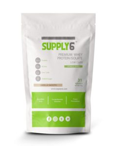 Supply6 90% Premium Whey Protein Isolate With Shaker - 1 Kg (Vanilla Smooth) at Rs 1448